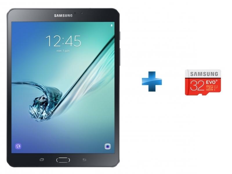 Galaxy Tab S2 VE - WiFi - Noir + Micro SDHC EVO Plus 32 Go + Adaptateur SD