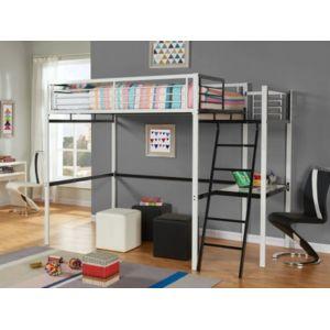 marque generique lit mezzanine casual ii couchage 140x190cm plateforme bureau coloris. Black Bedroom Furniture Sets. Home Design Ideas