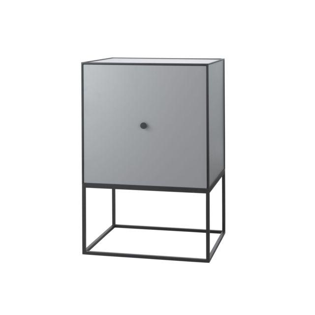 By Lassen Table d'appoint Frame 49 avec porte et étagère - gris foncé