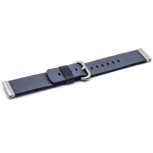 Smartwatch Fitness Bracelet 20 mm Nylon Bleu pour Withings Steel HR 40 mm
