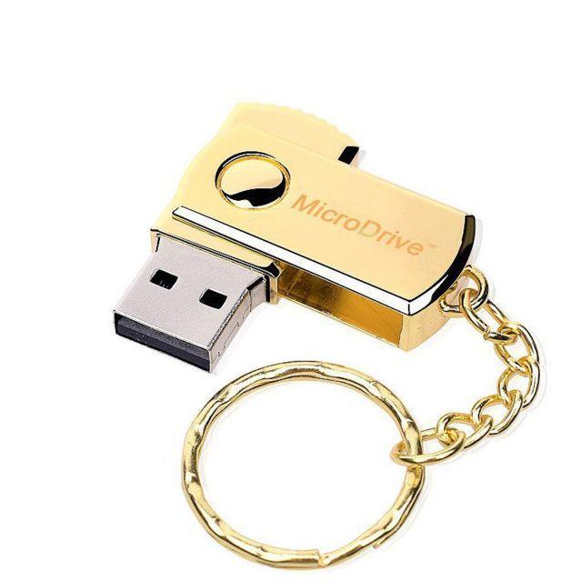 32Go USB 2.0 Clé USB Clef Mémoire Flash Data Stockage Chaine Porte-clés Or