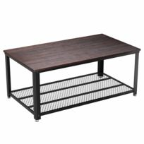Table basse style industriel - catalogue 2019 - [RueDuCommerce ...