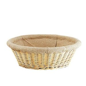 az boutique corbeille osier ronde 29 cm avec toile de jute corbeille pas cher achat. Black Bedroom Furniture Sets. Home Design Ideas