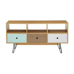 ze shop colette meuble tv 120 cm d cor chene et. Black Bedroom Furniture Sets. Home Design Ideas