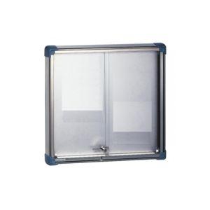 Ulmann - 105472-Vitrine intérieure portes coulissantes 12 A4 Blanc