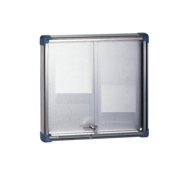 Ulmann - 105469-Vitrine intérieure portes coulissantes 6 A4 Blanc