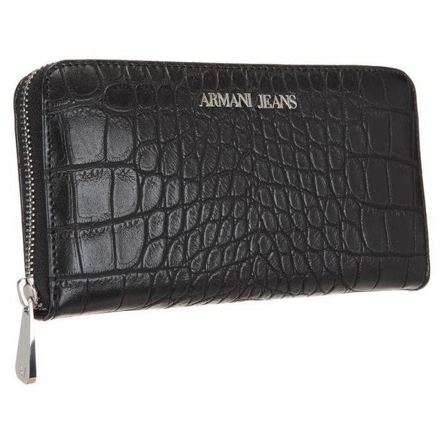 Jeans 928032 Black Croco Wallet Effect Armani Women 6a711 dfwnq
