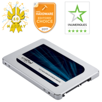 MX500 500 Go – 2,5'' SATA III 6 Gb/s