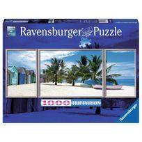 Ravensburger - Puzzle 1000 pièces triptyque : Paysage paradisiaque