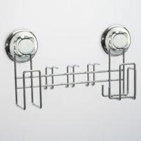 Best lock - Porte brosse à dent et dentifrice en acier chromé 28.5x7.2x12.6cm Easy