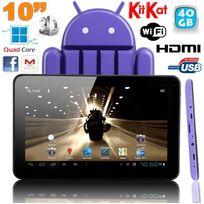 Yonis - Tablette tactile 10 pouces Android 4.4 KitKat Quad Core 40 Go Violet