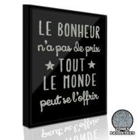 Sudtrading - Cadre imprimé Paillette - 21 x 26 cm - Le bonheur