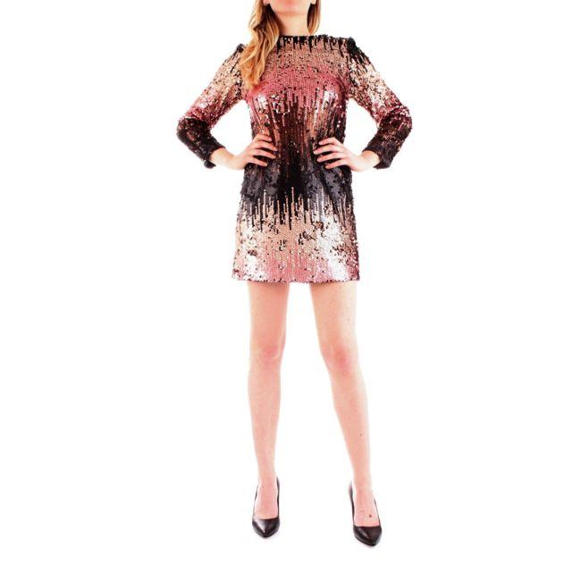 Fracomina Femme Fr19FP505MULTI Multicolore Sequins Robe