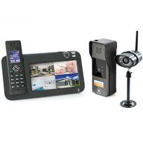 Scs Sentinel - Kit Interphone vidéo Dect + vidéosurveillance - 1 platine + 1 caméra - 1 platine + 1 caméra