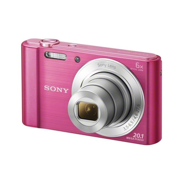 SONY Appareil photo compact W810 - Rose - 20MP - Zoom optique 6x