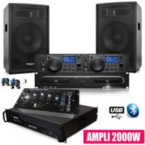 Gemini - Pack Sono Dj Complet Club12 Ampli Table Mix