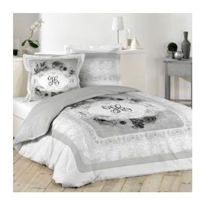 marque generique housse de couette et deux taies 240 cm medicis gris 220cm x 240 cm pas. Black Bedroom Furniture Sets. Home Design Ideas