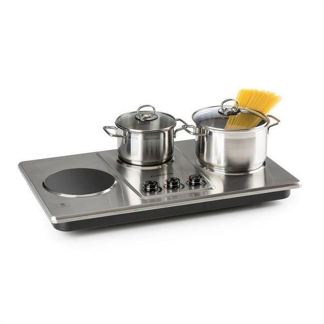 KLARSTEIN Potzblitz Triple plaque de cuisson réglable en continu 3300W - argent