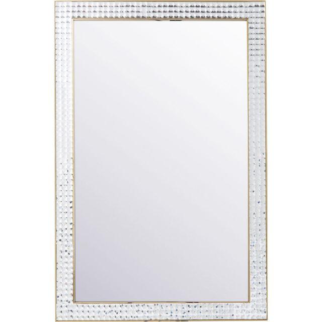 Karedesign Miroir Crystals doré 120x80cm Kare Design