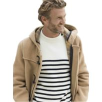 Dalmard Marine - Duffle coat laine made in France Couleur - beige, Taille  Homme - ade855ba7a38