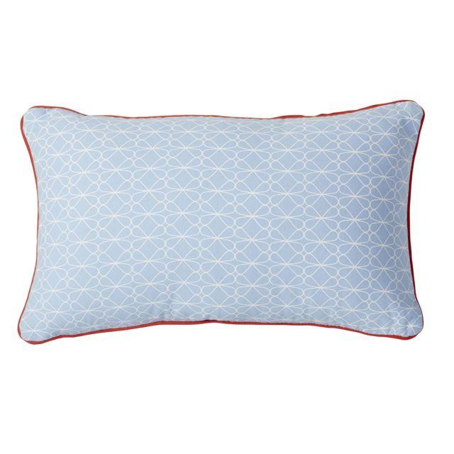 TEX HOME - Coussin micromotif Bleu - 50cm x 30cm