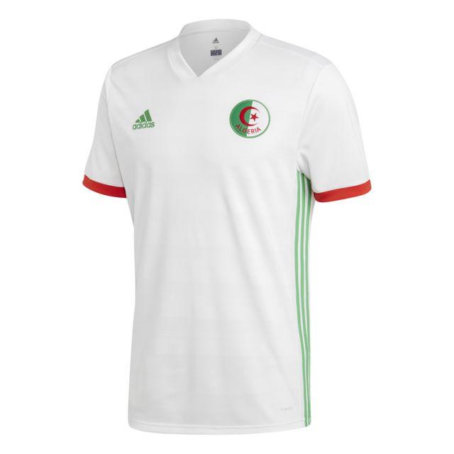 Adidas Maillot domicile Algérie 20182019 blancvert pas
