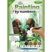 Royal & Langnickel - Pjs41 Peinture D'APRÈS Les Chiffres Taille A4 Gorilles