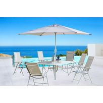 CARREFOUR - Set Rona 1 Table + 6 Fauteuils + 1 Parasol