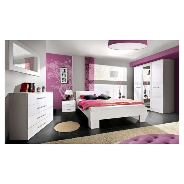 Justyou - Vicka Ii 140 Meubles chambre a coucher Blanc - pas cher ...