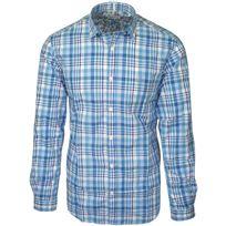Serge Blanco - chemise bleu à carreaux