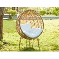 Fauteuil oeuf jardin - catalogue 2019 - [RueDuCommerce - Carrefour]