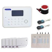 EMATRONIC - Alarme maison sans fil et filaire GSM 4-5 pièces AL02 PREMIUM