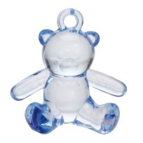 Générique - 8 DÉCOS Bijoux Ourson Bleu 3,5 Cm