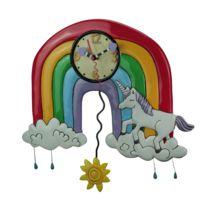 Allen Designs - Pendule en forme d'Arc en ciel et Licorne