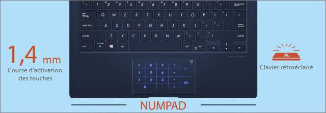 Clavier avec NumPad