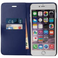 Mocca Design - Etui Folio Porte Carte Marine En Cuir Iphone 6 Plus