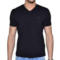 Armani - Jeans - Tee Shirt Manches Courtes - Col V - Homme - 06h29 Classic - Noir