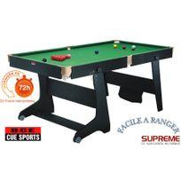 Bce - Billard Clifton 6ft Pool/Snooker Noir roulettes, + fléchettes