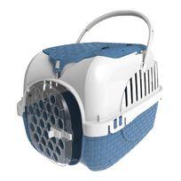 Bama Pets - Caisse de transport avec rangement - bleu
