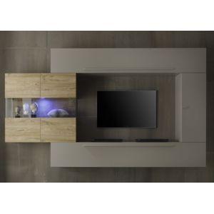 ensemble meuble tv mural blanc et miel linia Résultat Supérieur 50 Bon Marché Ensemble Meuble Tv Gris Galerie 2018 Hht5