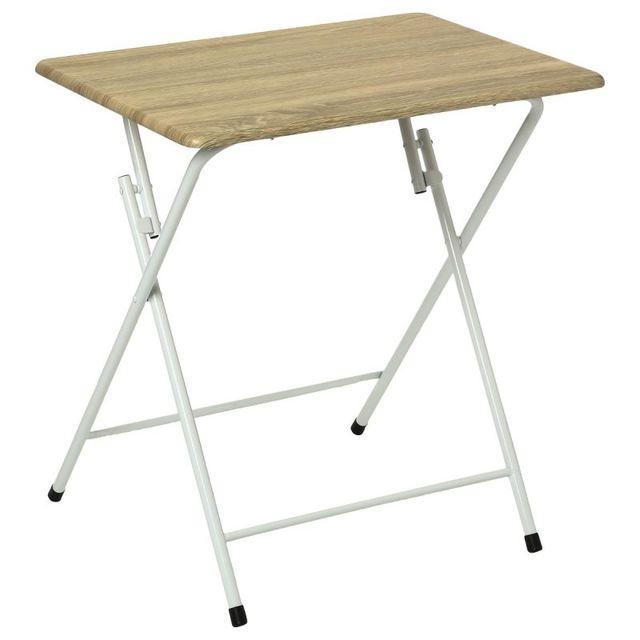 paris prix table pliante 70cm bivoak naturel marron 0cm x 0cm x 0cm pas cher achat. Black Bedroom Furniture Sets. Home Design Ideas