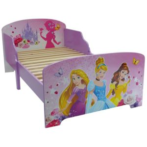 jemini lit enfant princesse disney fleurs rose violet 70cm x 140cm pas cher achat vente. Black Bedroom Furniture Sets. Home Design Ideas