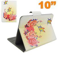 Yonis - Housse universelle tablette 10 10.1 pouces support ajustable papillon