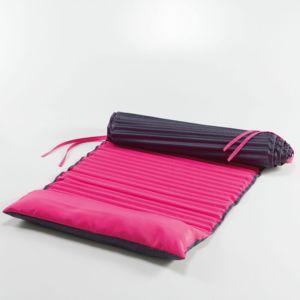 marque generique matelas de plage enroul 60x170cm bicolore garden framboise anthracite violet. Black Bedroom Furniture Sets. Home Design Ideas
