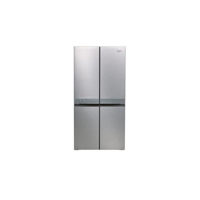 HOTPOINT Haq9e1l - Refrigerateur Multiportes, 591 L 384 L + 207 L, 187,5 X 90,9 X 69,7 Cm, Inox, A+, Total No Frost