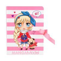 Manga Model - Bloc A Secrets Rose 19 x 13 cm pour les Fans de Mangas