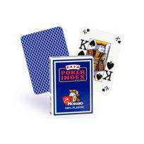 Modiano - Cartes Poker Index 100% plastique bleu