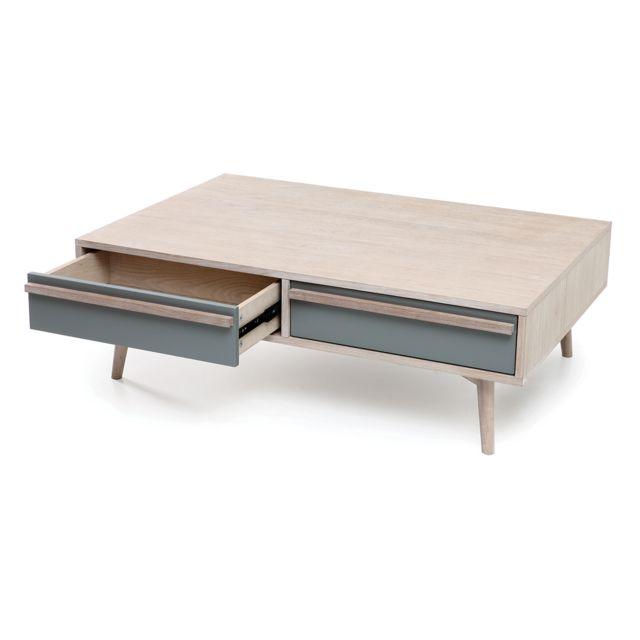Table Et Blanchi Gris Scandinave Miliboo Narvik Basse Mat Chêne 7vYf6ygb