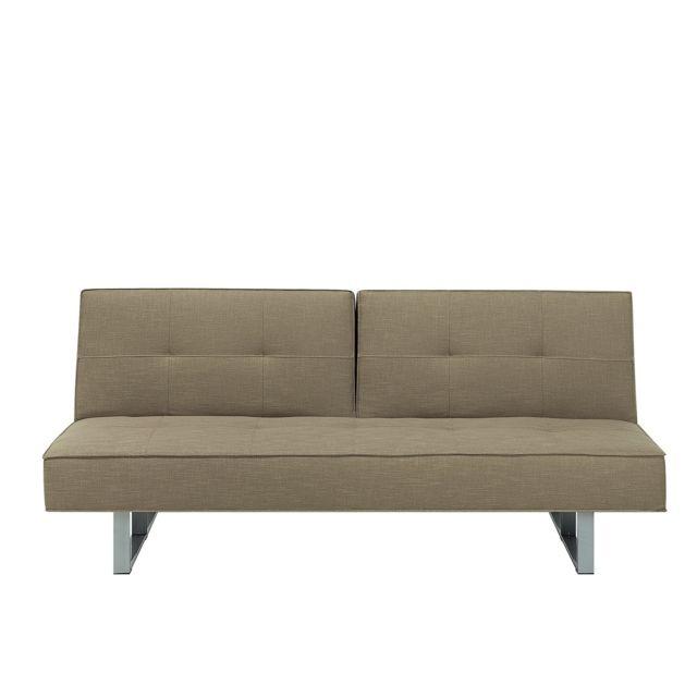BELIANI Canapé en tissu taupe de 190 cm DUBLIN