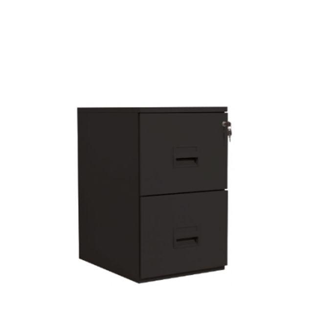 vinco meuble classeur de bureau 2 tiroirs pour dossiers suspendus noir installation offerte